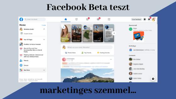 Facebook Beta teszt